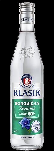 KLASIK Slovenská Borovička Horec 40% 0,5l