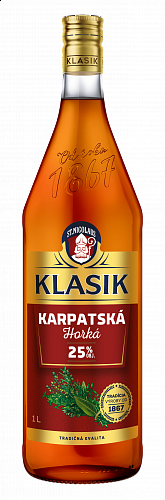 KLASIK Karpatská horká likér 25% 1l