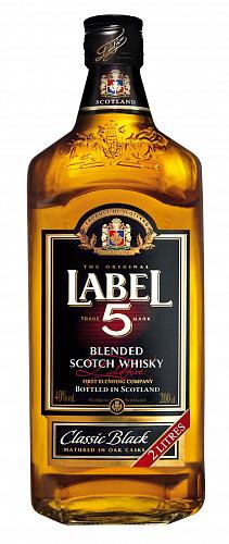 Label 5 Scotch Whisky 40% 2l