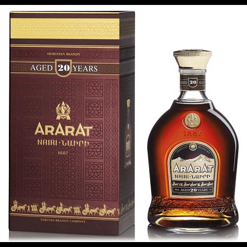 Ararat 20y Nairi 40% 0,7l , Arménske brandy