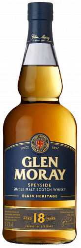 GLEN MORAY Single Malt 18YO whisky 47,2% 0,7l