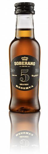 Soberano 5 Brandy Reserva 36% 0,05l