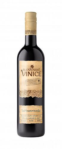 Slovenské Vinice Svätovavrinecké červené víno 2017 0,75l