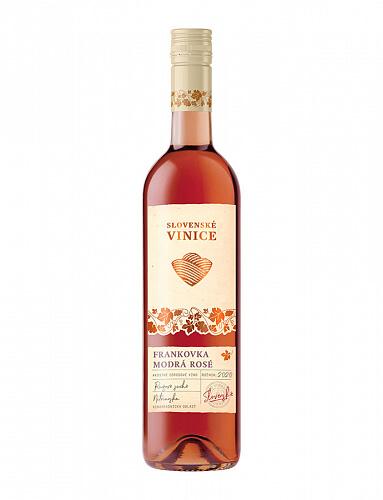 Slovenské Vinice Frankovka modrá Rosé 2020, ružové suché 0,75l