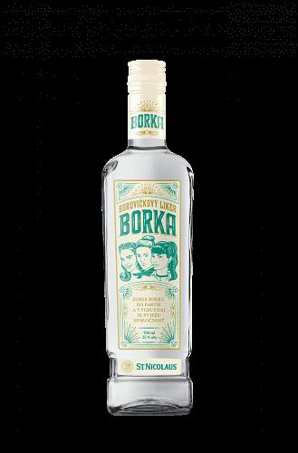 Borovičkový likér BORKA 35% 0.7l