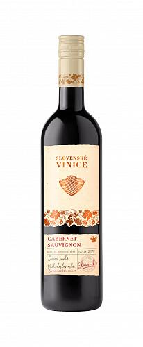 Červené víno Slovenské Vinice Cabernet Sauvignon 2018 0,75 l NOVÉ