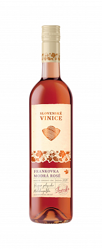 Slovenské Vinice Frankovka modrá Rosé 2019, ružové polosuché 0,75l