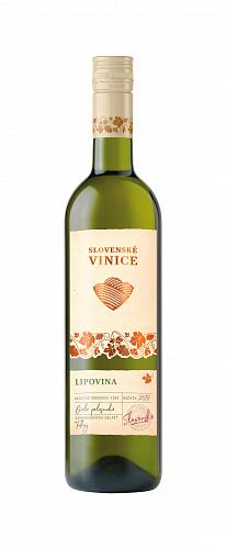 Slovenské Vinice Lipovina 2018 , biele polosuché 0,75l