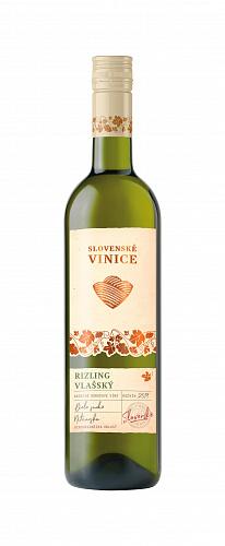 Slovenské Vinice Rizling vlašský 2019, biele suché 0,75l