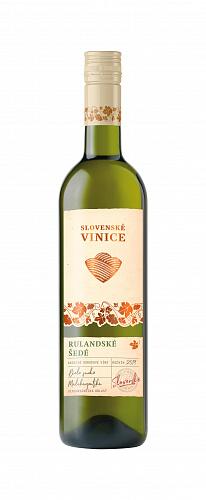 Biele víno Slovenské Vinice Rulandské šedé 2019, 0,75l