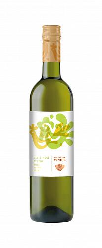 Slovenské Vinice Folk Veltlínske zelené 2019, biele víno suché 0,75l