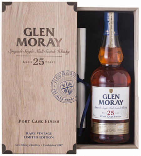 GLEN MORAY 25 YO PORT CASK FINISH whisky 43% 0,7l