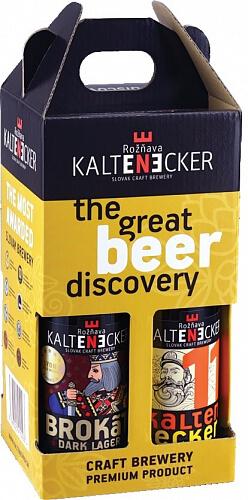 Kaltenecker Darčekový 4 pack pivný MIX sklo 4 x 0,33l