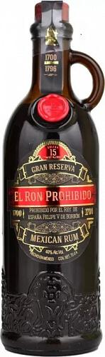 El Ron Prohibido Gran Reserva 15 YO 40% 0,7l Tmavý rum