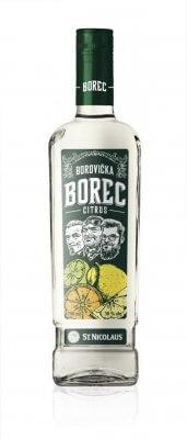 Borovička BOREC Citrus 38% 0,7l
