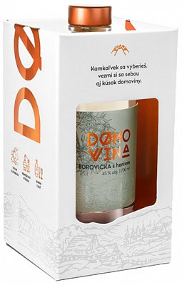 DOMOVINA Borovička s horcom 45% 0,7l darčekové balenie