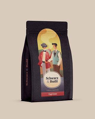 Espresso Schwarz & Budil  500 g  zrnková káva