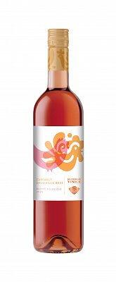 Slovenské Vinice Folk Cabernet Sauvignon rosé 2020, ružové víno polosuché 0,75l