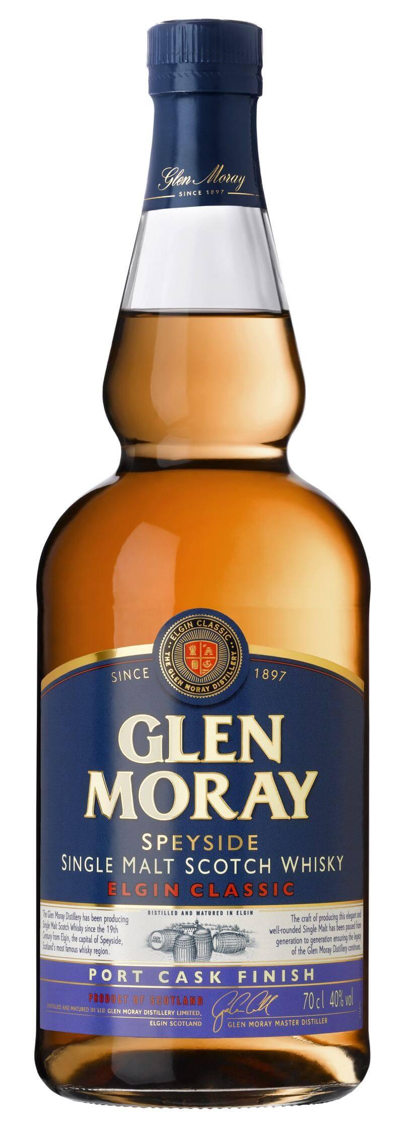 GLEN MORAY Classic Port Scotch Whisky 40% 0,7l