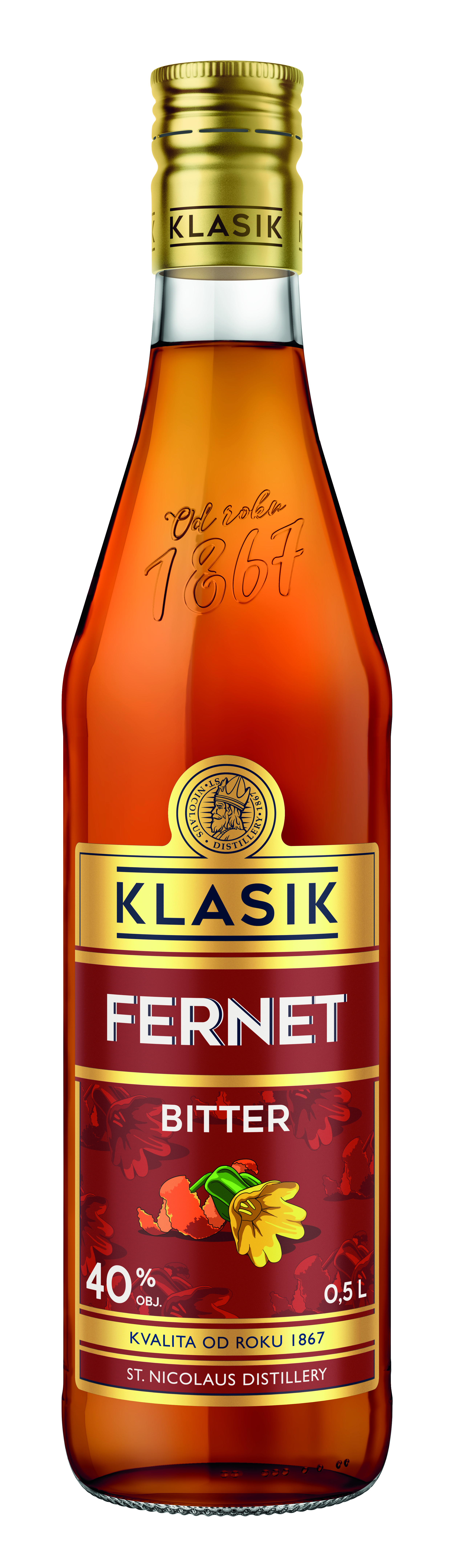 KLASIK Fernet Bitter 40% 0,5l