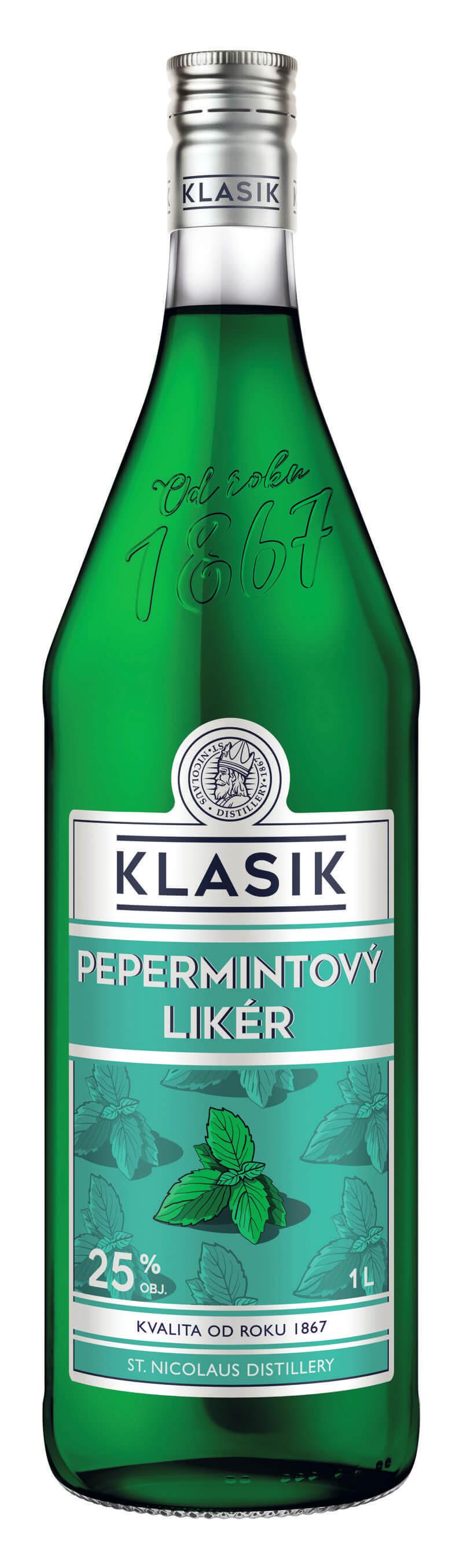 KLASIK Pepermintový likér 25% 1l