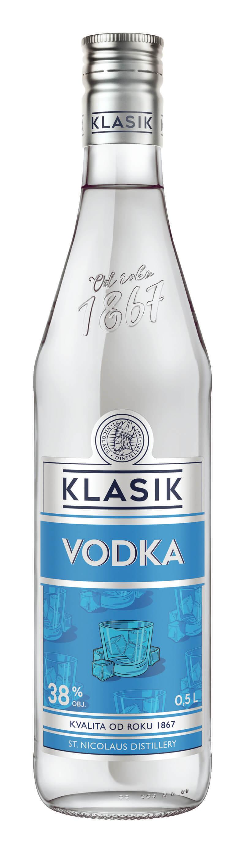 KLASIK Vodka 38% 0,5l