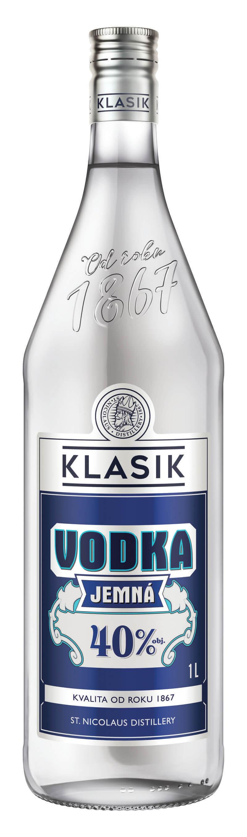 KLASIK Vodka Jemná40% 1l