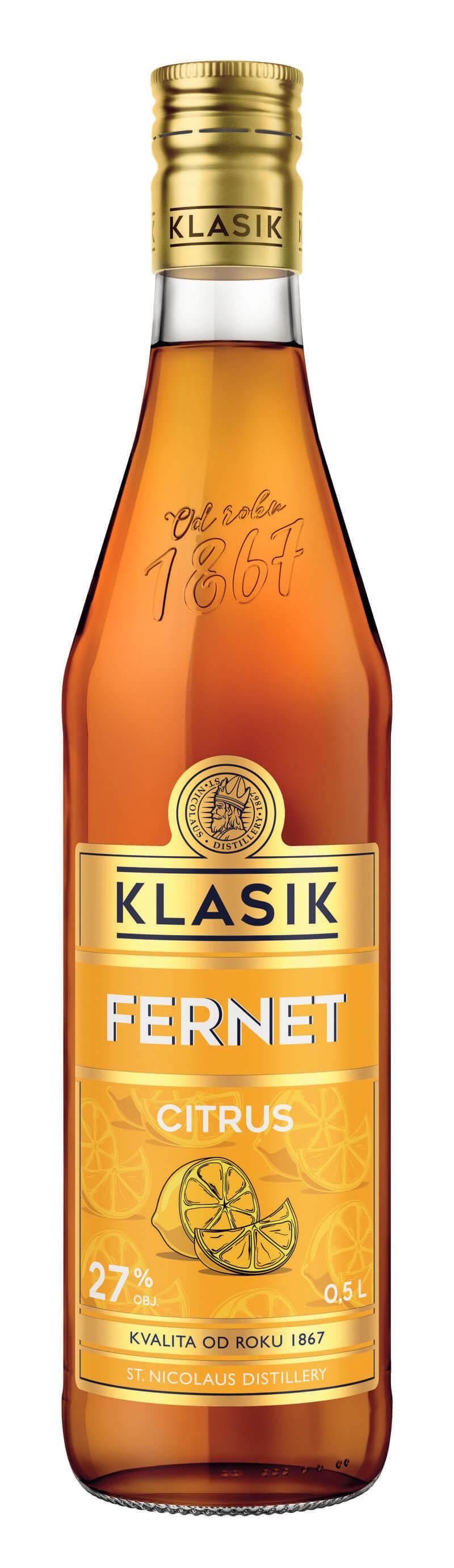 KLASIK Fernet Citrus 27% 0,5l
