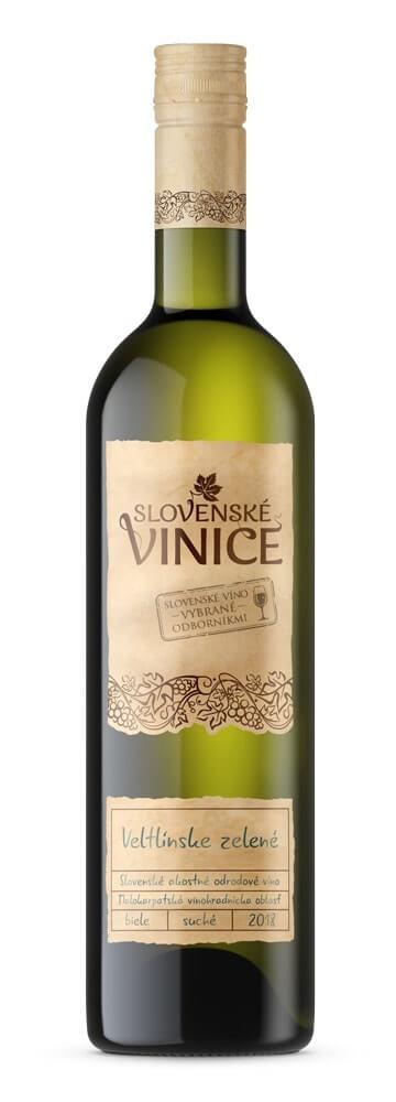 Slovenské Vinice Veltlínske zelené 2018 0,75 l