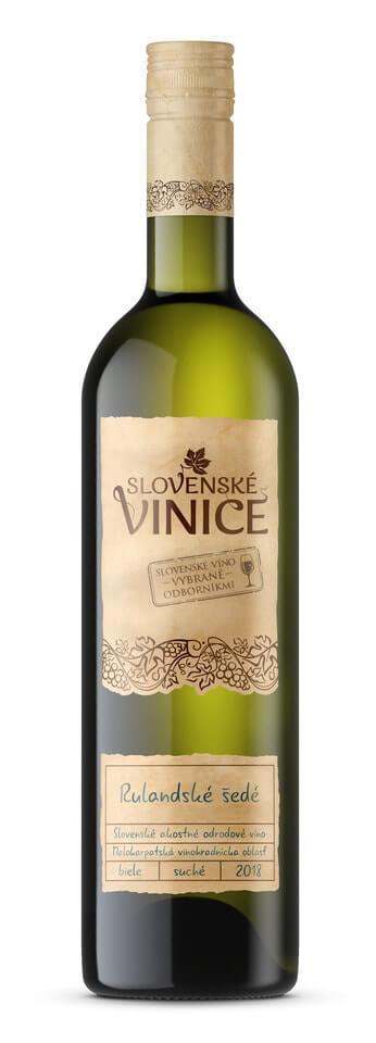 Slovenské Vinice Rulandské šedé 2018 0,75 l