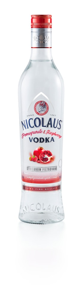 Nicolaus Pomegranate & Raspberry Vodka 38% 0,7l
