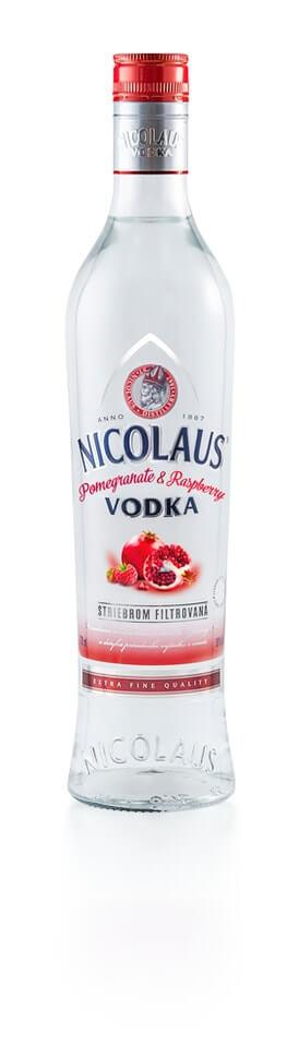 Nicolaus Pomegranate & Raspberry Vodka 38% 0,7l