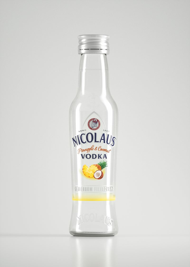 Nicolaus Pineapple-Coconut Vodka 38% 0,04l