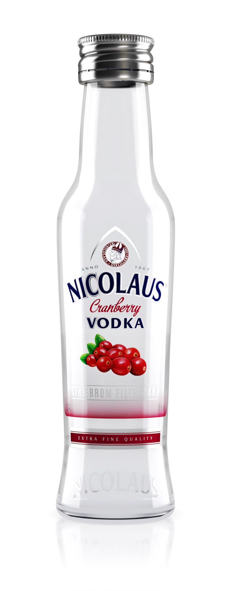 Nicolaus Cranberry Vodka 38% 0,04l