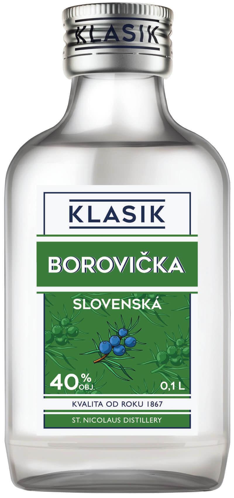 KLASIK Slovenská borovička 40% 0,1 l