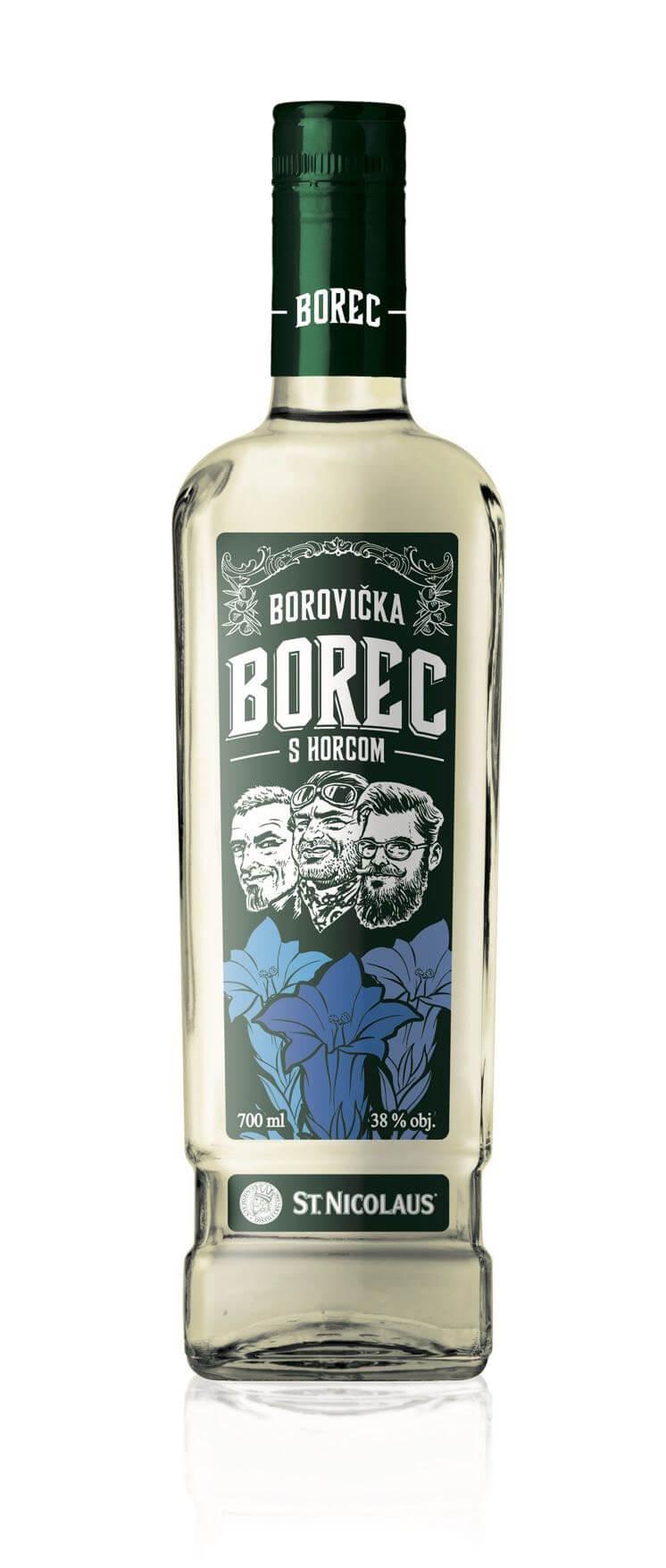 Borovička BOREC s horcom 38% 0,7l