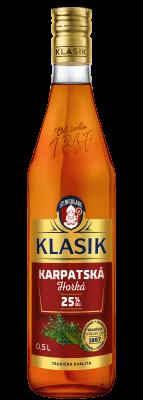 KLASIK Karpatská horká 25% 0,5l