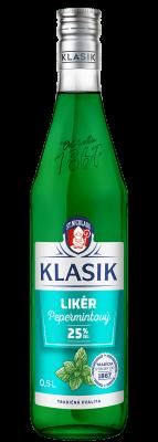 KLASIK Pepermintový likér 25% 0,5l