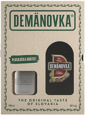 Demänovka Bitter 38% 0,7l darčekové balenie s ploskačkou