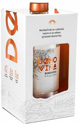 DOMOVINA Borovička 45% 0,7l darčekové balenie