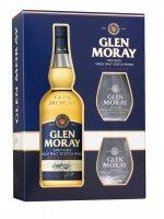 GLEN MORAY Single Malt Whisky Classic darčekové balenie s 2 pohármi