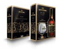 Soberano 5 Reserva Brandy 36% + pohár v darčekovej krabici