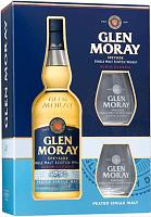 GLEN MORAY Single Malt Whisky Peated darčekové balenie s 2 pohármi